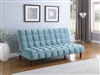 Tufted Velvet Sofa Bed Available in Teal or Pink by Coaster Furniture