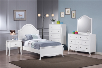 Dominique White Cottage Style Bedroom Collection by Coaster 400561