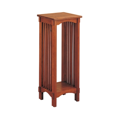 1-Shelf Square Accent Table Warm Brown - Coaster 4040