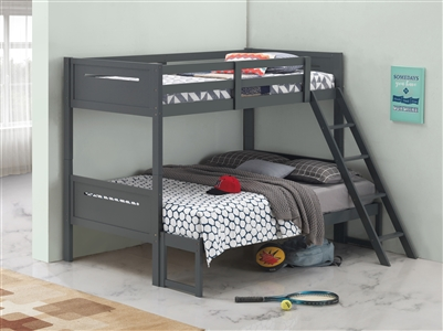 Littleton Solid Wood Twin over Full Bunk Bed Available in 5 Colors