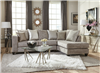 Grey Microfiber Tuxedo Style Chaise Sectional