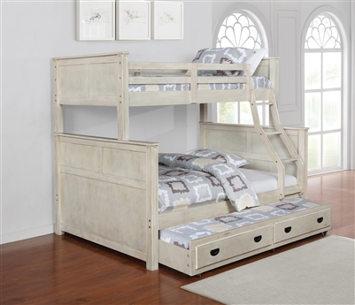 Montrose Twin over Full Bunk Bed in Antique White