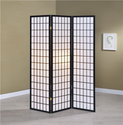 3-Panel Folding Screen Black And White