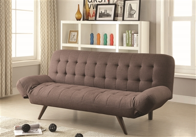 Gray Tufted Mid-Century Modern Style Sofa Bed