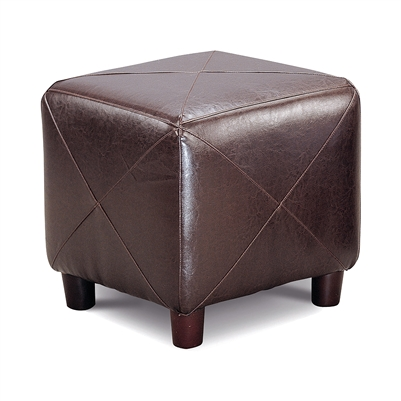Cube Shaped Ottoman Dark Brown - Coaster 500124