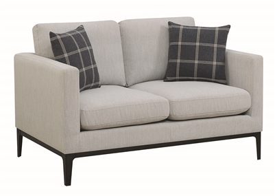 Asherton Modern Gray Loveseat by Scott Living