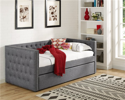 5335 Trina Gray Twin Daybed & Trundle - Crown Mark