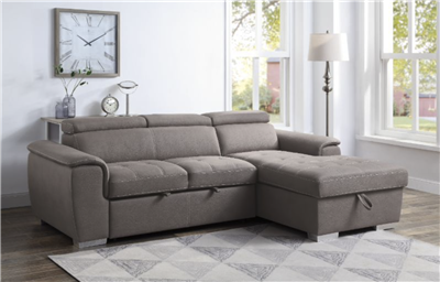 ACME Storage Sleeper Sectional Sofa - 55535