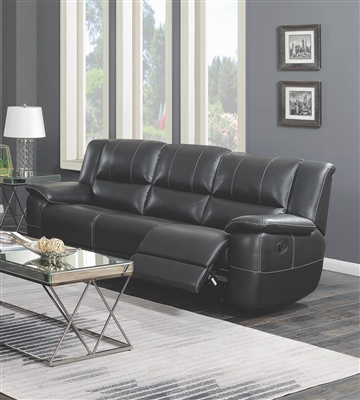 Black Performance Leatherette Motion Sofa