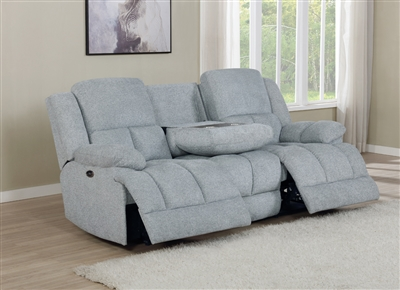 Waterbury Motion Sofa in Gray Performance Upholstery