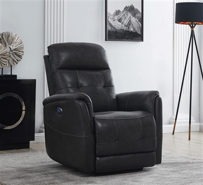 Deluxe Leather Power Glider Recliner