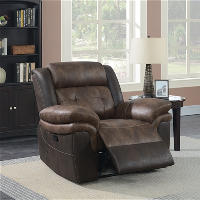 Saybrook Motion Recliner in Chocolate Microfiber