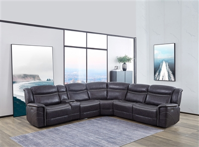 Dark Grey Performance Suede Reclining Sectional
