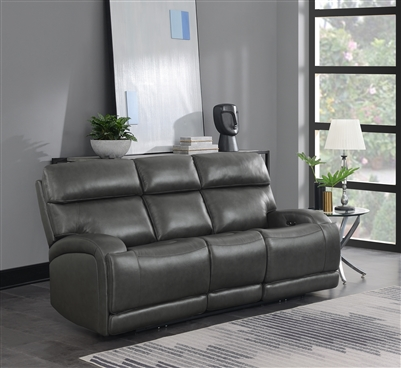 Longport Collection Power Sofa in Genuine Top Grain Leather