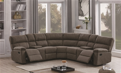 Grey Performance Suede Reclining Sectional