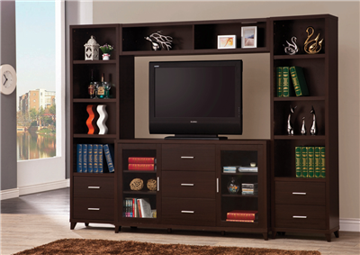 Archie Media Console With Towers & Bridge