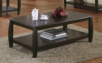 Rectangular Coffee Table With Lower Shelf Espresso - Coaster