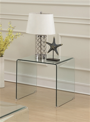 Stanz Retro Modern Clear Glass End Table