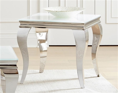 Living Room End Table in Chrome Stainless Steel - Coaster
