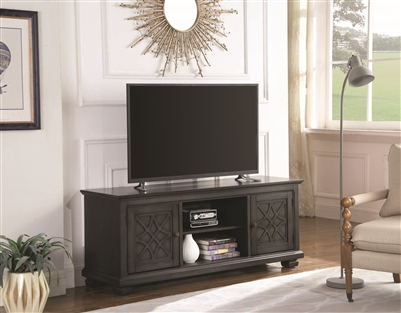 Clayton II Rustic Gray Finish Tv Console 60""