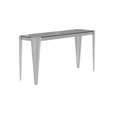 Rectangle Glass Top Sofa Table Silver And Grey - Coaster