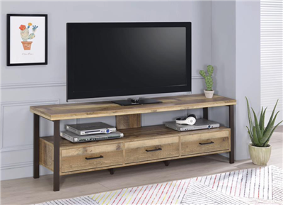 71″ 3-Drawer TV Console Weathered Pine