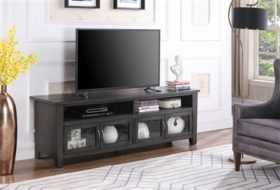 Dark Grey Finish Transitional TV Console