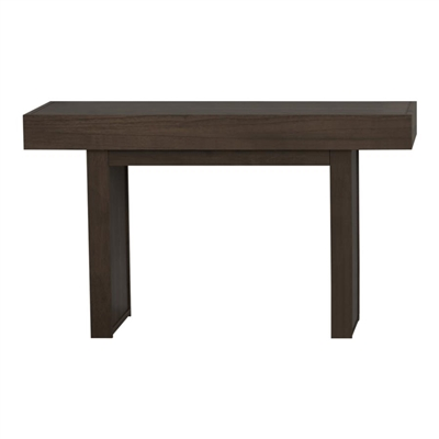 Rectangle Sofa Table With Hidden Storage Wheat Brown - Coaster