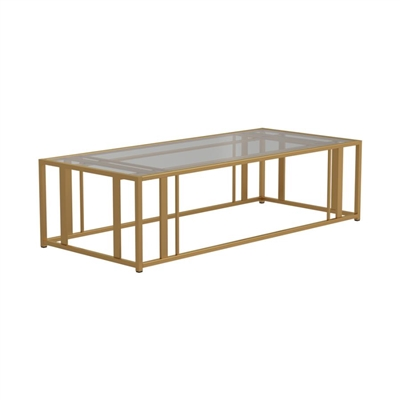 Eastbrook Metal Frame Coffee Table Matte Brass - Coaster