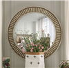 Transitional Style Floral Design Dresser Mirror