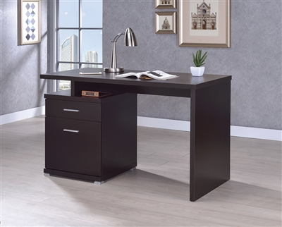 Cappuccino Finish Office Desk with Reversible Set Up