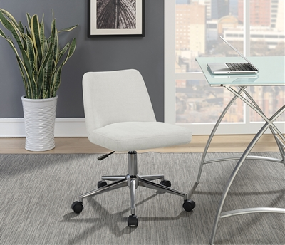 Aria Plush Beige Office Chair