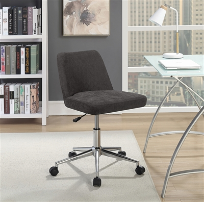 Aria Plush Charcoal Grey Office Chair