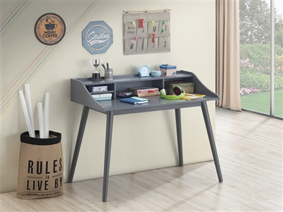 Percy 4-Compartment Grey Writing Desk