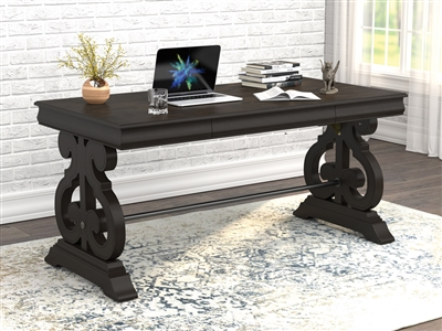 Iron Creek Trestle Base Rectangular Writing Desk Coffee