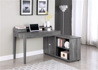 Jamara L-Shape Desk with in Weathered Gray