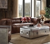 ACME Brancaster Coffee Table - 82180 - Aluminum