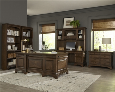 Executive Office Collection In Burnished Oak