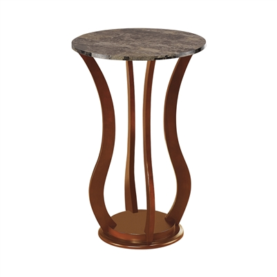 Round Marble Top Accent Table Brown - Coaster 900926