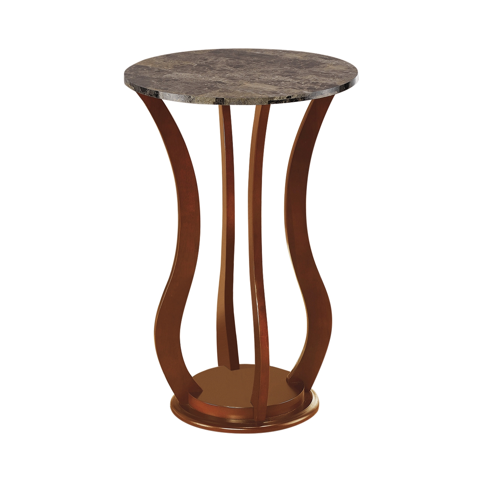 - Round Marble Top Accent Table Brown - Coaster 900926
