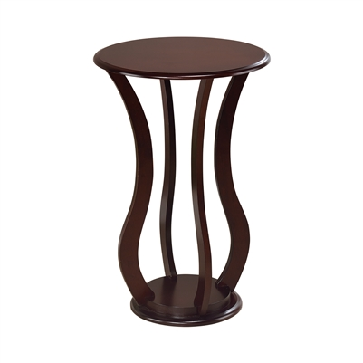 Round Top Accent Table Cherry - Coaster 900934