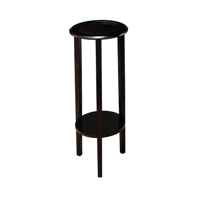 Round Accent Table With Bottom Shelf Espresso - Coaster 900936