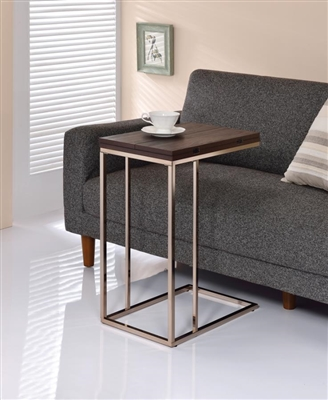 Expandable Top Accent Table Chestnut & Chrome - Coaster 902932