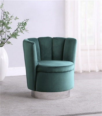 Modern Velvet Swivel Accent Chair Available in Gray, Rose, and Teal