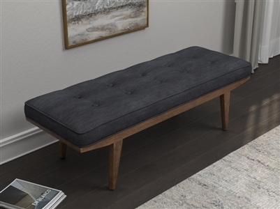 Taupe Fabric Bench
