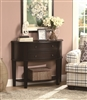 Traditional Demilune Shape Rich Brown Finish Console Table