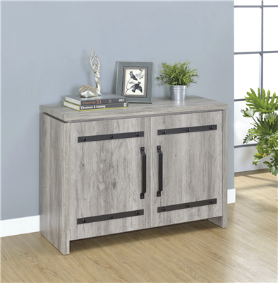 2-Door Accent Cabinet Grey Driftwood