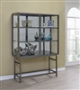 Pratt 2-Door Curio Cabinet in Brushed Nickel
