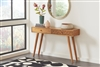 Sykes Natural Brown Finish Console Table