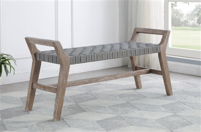Uniquely Crafted Grey Bench - Coaster 953301